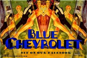 Blue Chevrolet Poster
